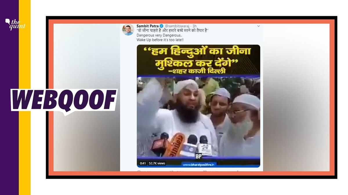 Muslim Cleric's Clip Shared By BJP Member Not From Shaheen Bagh