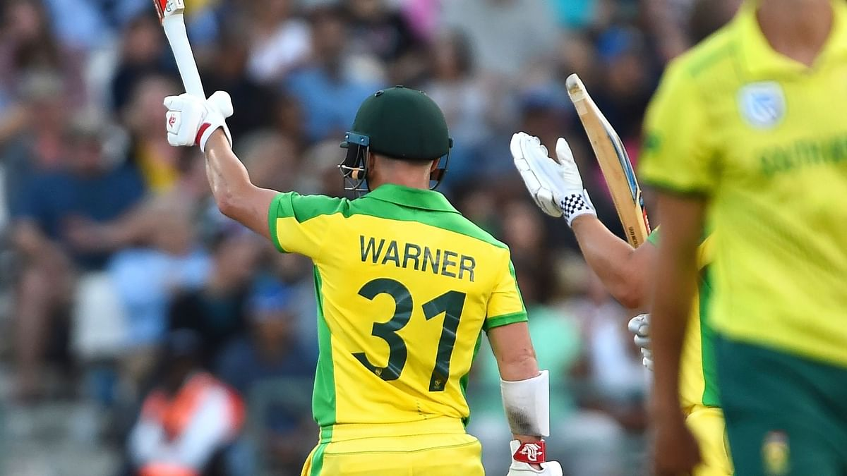 David Warner played a key role as Australia sealed the T20 series at the venue of the ball tampering scandal two years back.