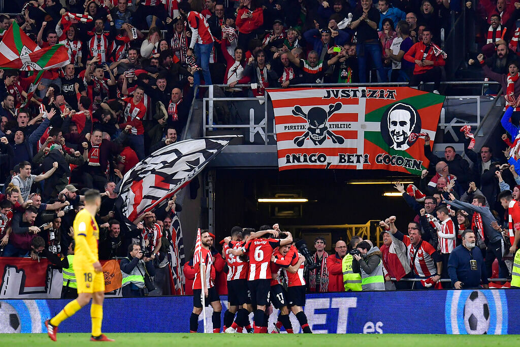 Inaki Williams struck in the 93rd minute to help 23-time Copa del Rey champions Athletic Bilbao reach the semi-final stage.