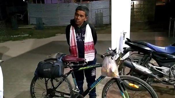 Bhupen Likson,52, cycled 600 Km to meet Salaman Khan in Guwahati