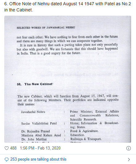 Nehru Didn't Want Patel in Cabinet? Jaishankar, Guha Spar Online
