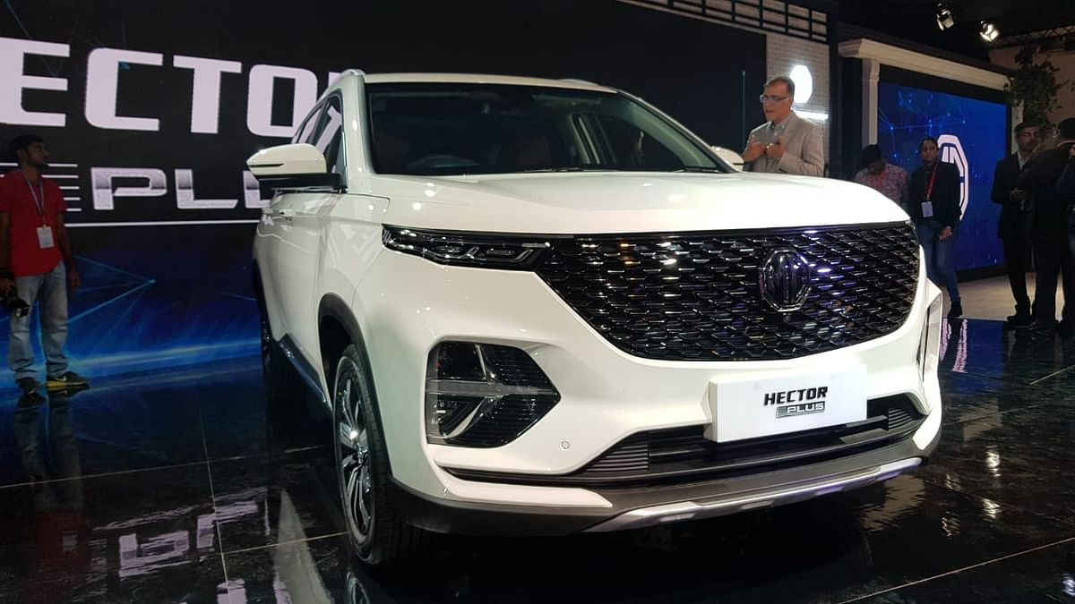 Auto Expo: Backing on Hector's Success, MG Brings the Hector Plus