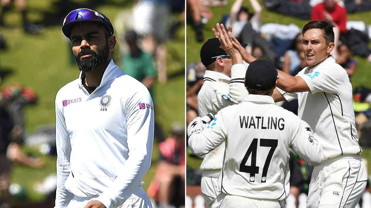 New Zealand defeated India by 10 wickets in the first Test in Wellington to take a 1-0 lead in the two-match series.