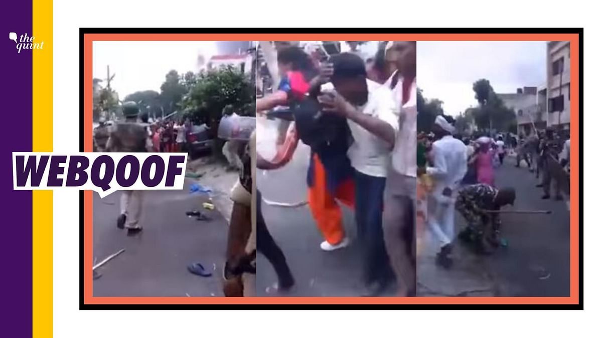 Old Video of Panchkula Arson Shared as Police Brutality in Kashmir