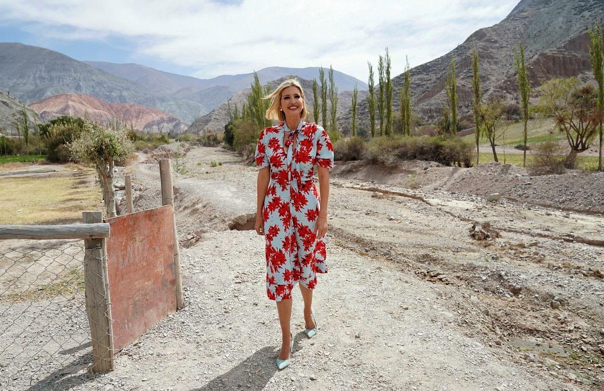 Ivanka Trump in the same dress in Argentina in 2019