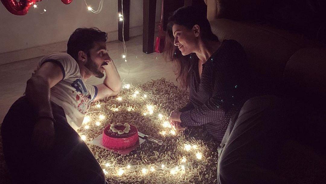 Sushmita Sen with her boyfriend Rohman Shawl