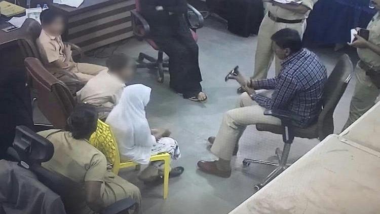 Police interrogating Bidar School Children