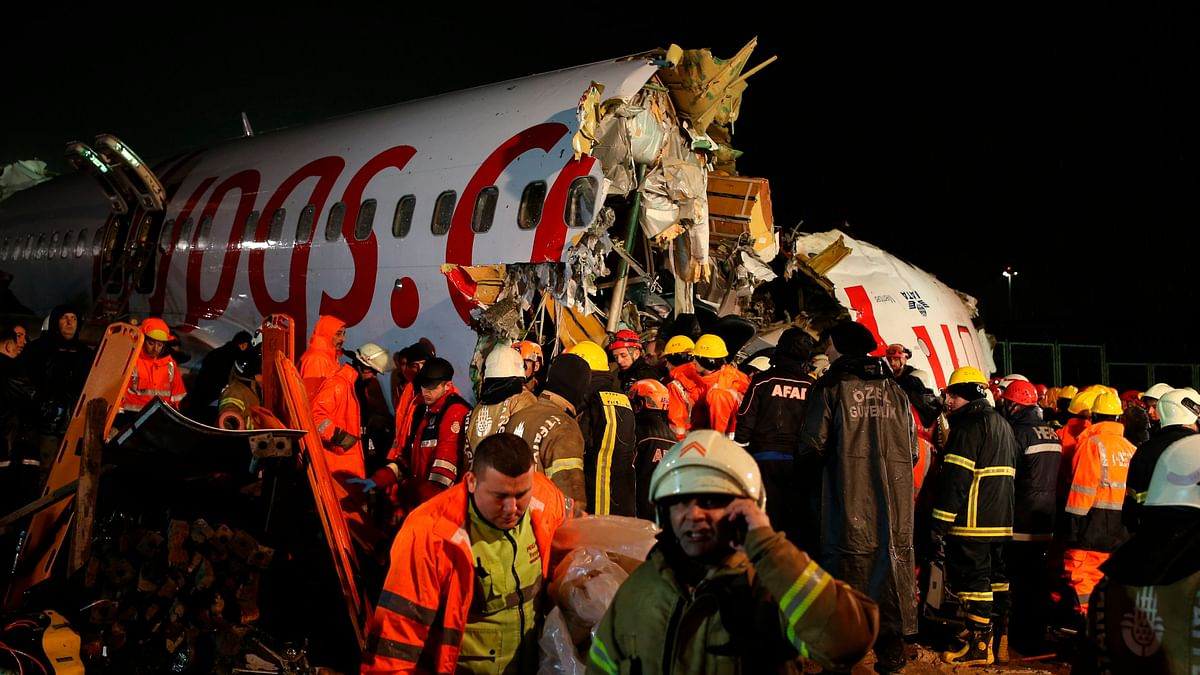 3 Dead, 179 Hurt: Plane Skids Off Runway, Splits Into 3 in Turkey