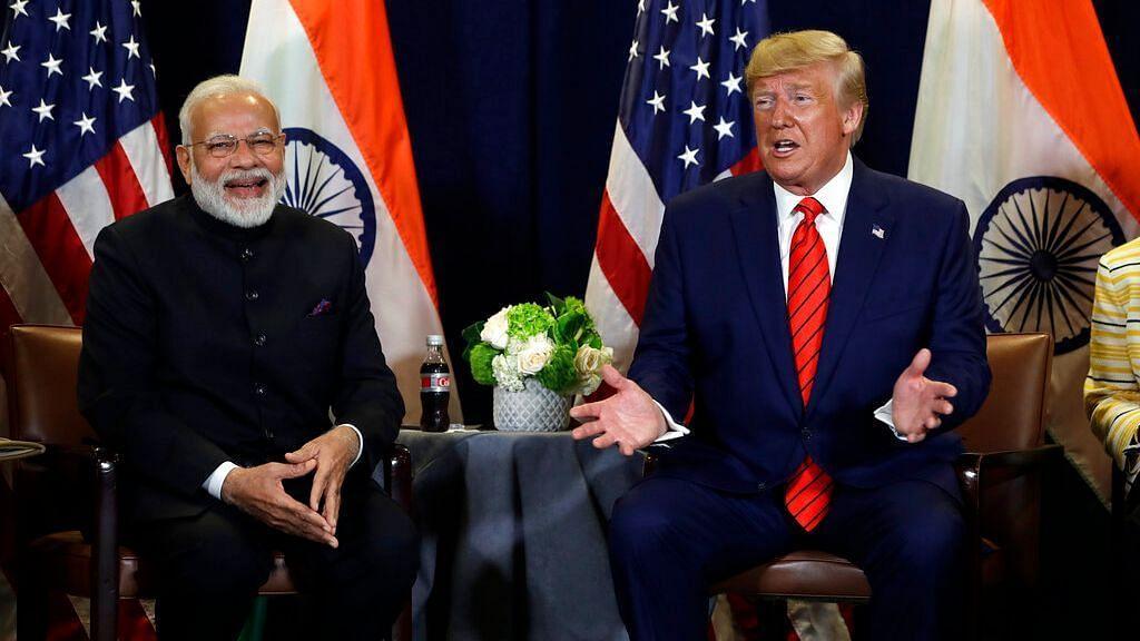 PM Narendra Modi with US President Donald Trump.