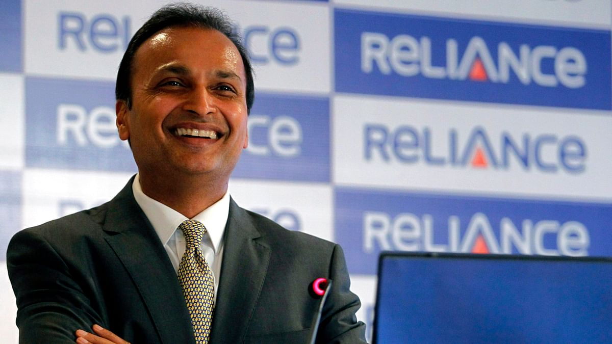 Anil Ambani, chairman of the Reliance Anil Dhirubhai Ambani Group during a news conference in Mumbai.