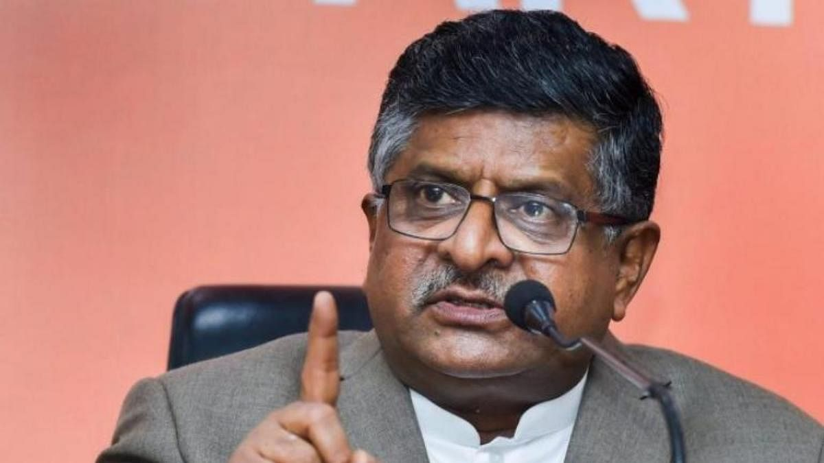 Union IT Minister Ravi Shankar Prasad.
