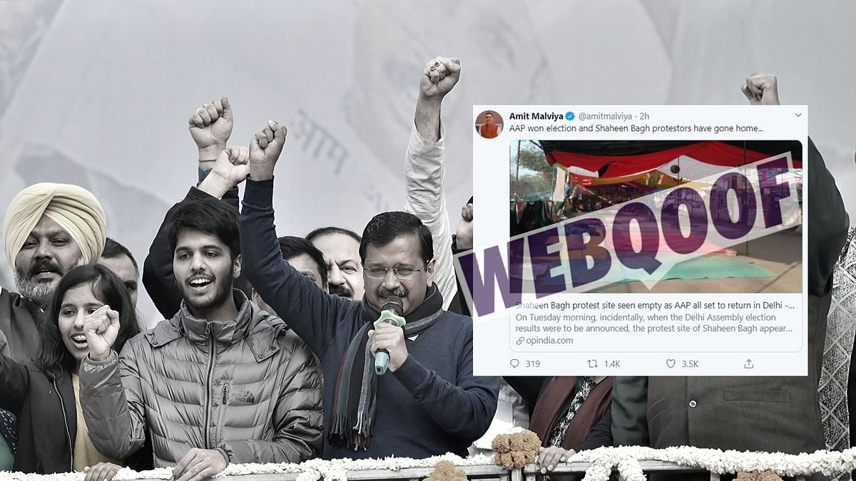 A report has been doing the rounds which claims that the protesters in Shaheen Bagh have emptied the area after AAP emerged victorious in the Delhi Assembly elections.