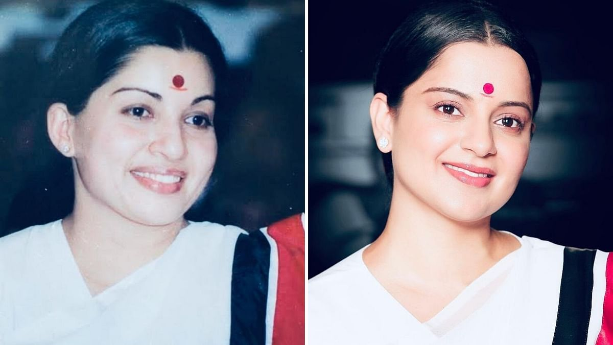 Jayalalithaa (L) and Kangana Ranaut (R)