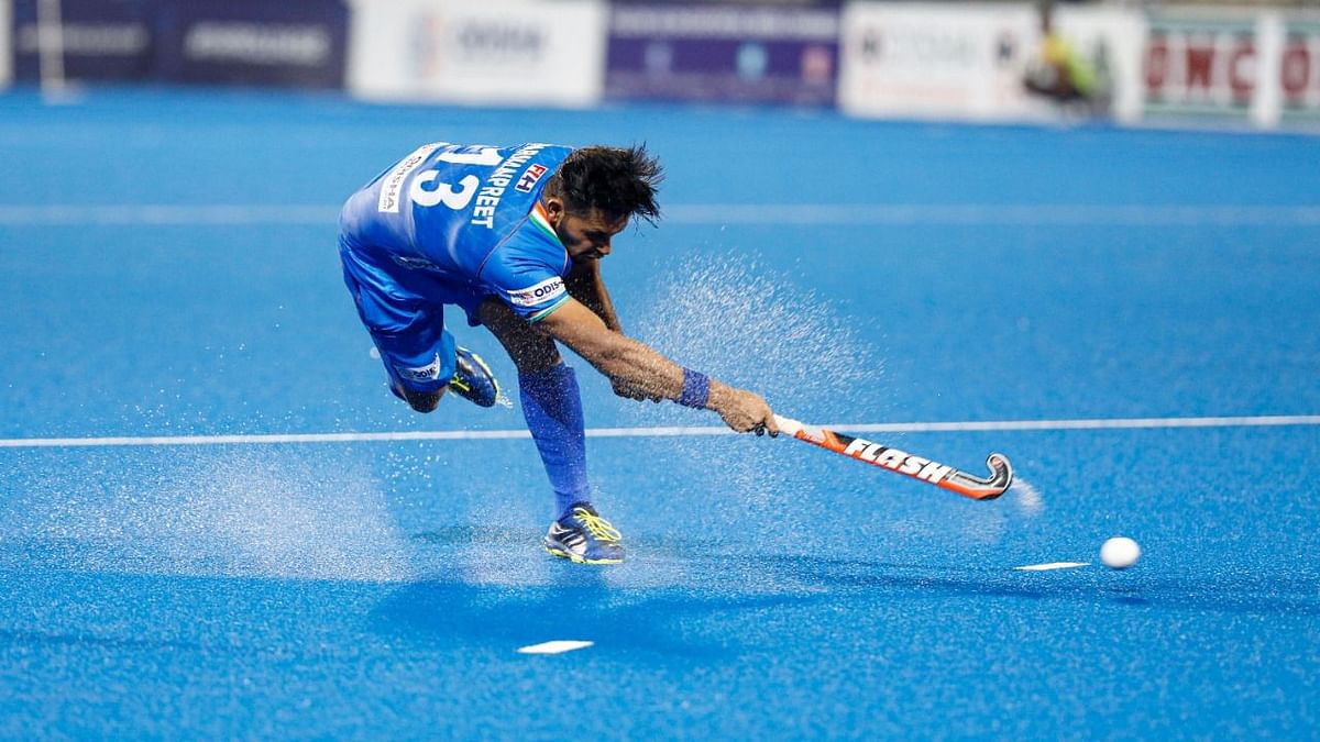 In the shoot-out, Harmanpreet (above), Vivek Sagar Prasad and Lalit Upadhyay scored for India.