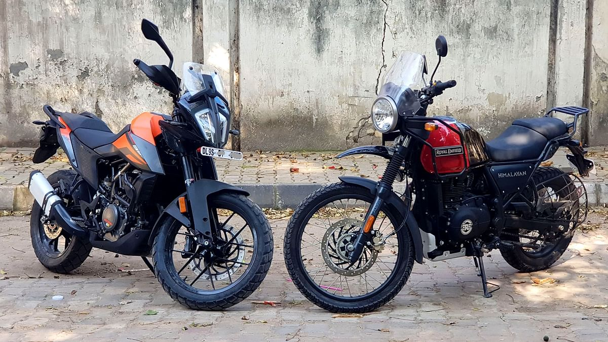 The Royal Enfield Himalayan is good value for money, while the KTM 390 Adventure is the tech-loaded one.