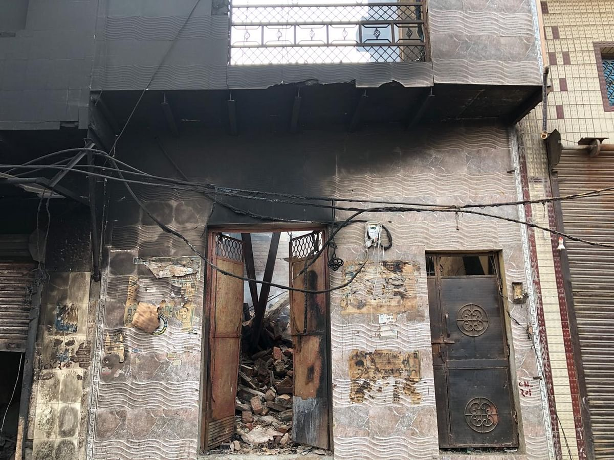"""On the night of 25 February, outsiders entered the area and targeted houses where Muslims lived,"" said Ajay, a resident of Bhagirathi Vihar."
