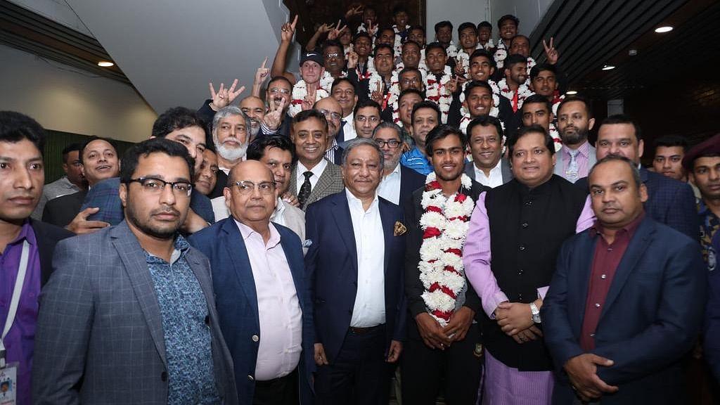 Bangladesh U-19 World Champions Return to a Hero's Welcome