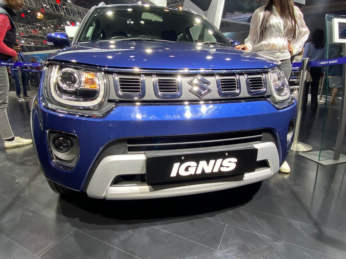 Sharp front grille makes its debut on the Ignis as well.