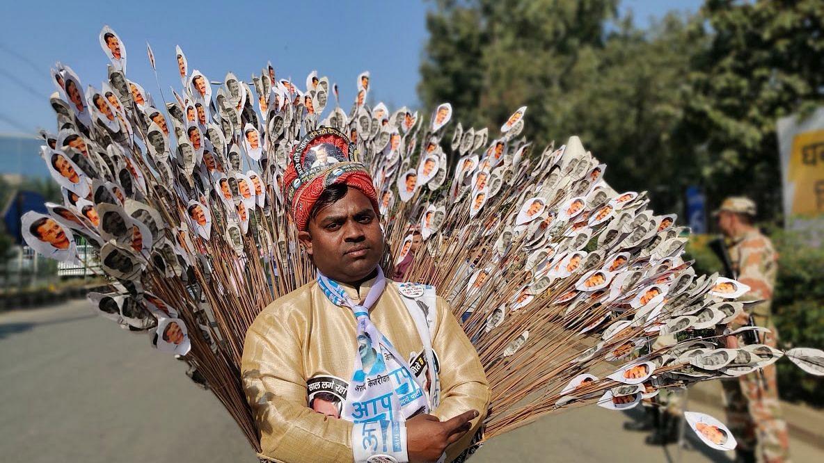 'Peacock' to Mini-Muffler Men: Delhi Dresses up for CM Kejriwal