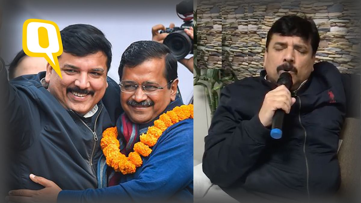 AAP's Sanjay Singh Breaks Into A Song After Party's Landslide Win