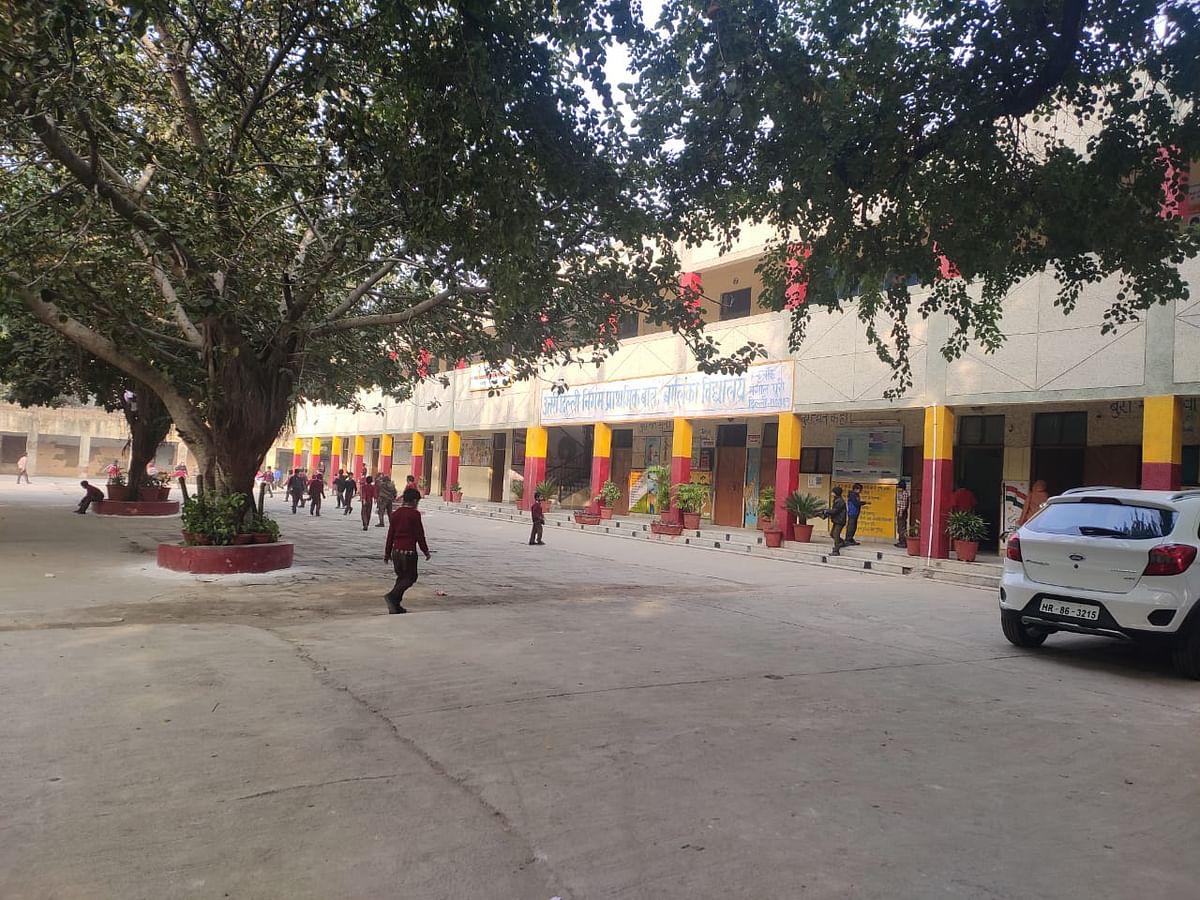A government school in Mangolpuri.