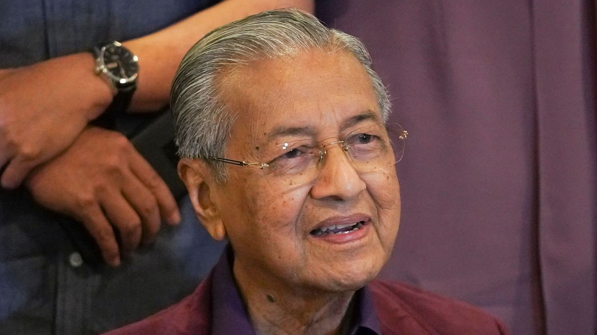 Malaysian Prime Minister Mahathir Mohamad.
