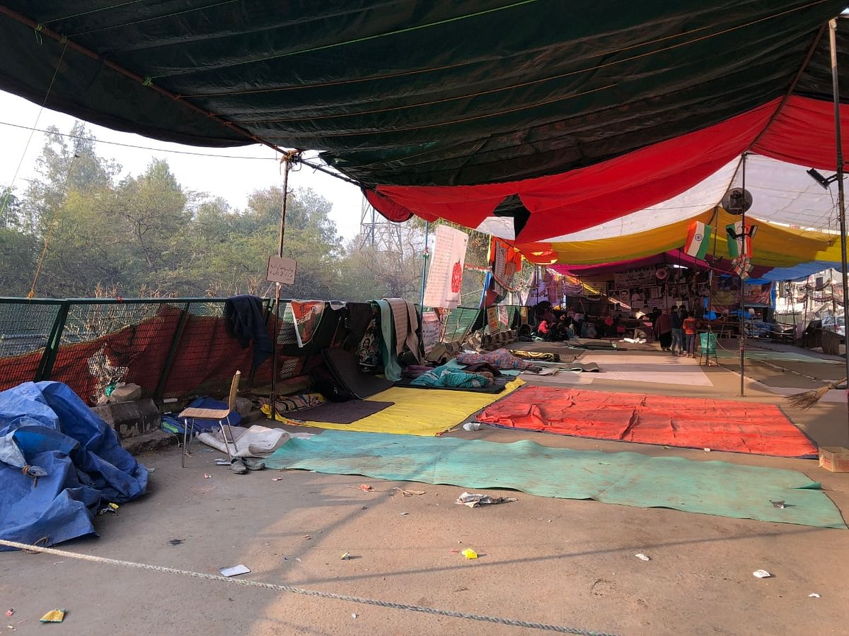 Protest site in Shaheen Bagh.