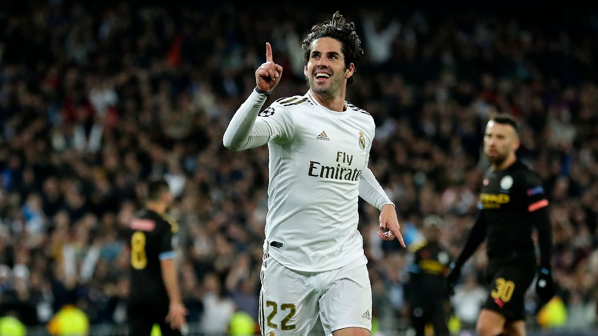 Real Madrid's Isco scored from a smart finish early in the second half,