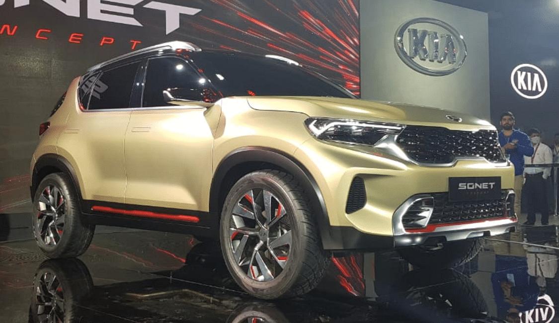 The Kia Sonet will compete with the Hyundai Venue.