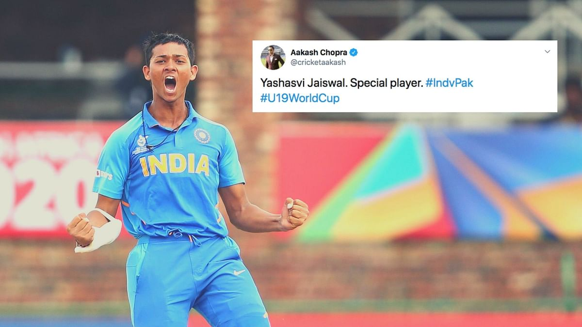 Twitter hailed opener Yashasvi Jaiswal for his incredible century that helped India book a spot in the final of the U-19 World Cup.
