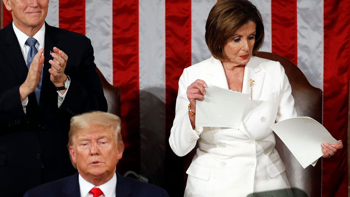 Speaker Nancy Pelosi Rips Apart Trump's Speech on the Podium