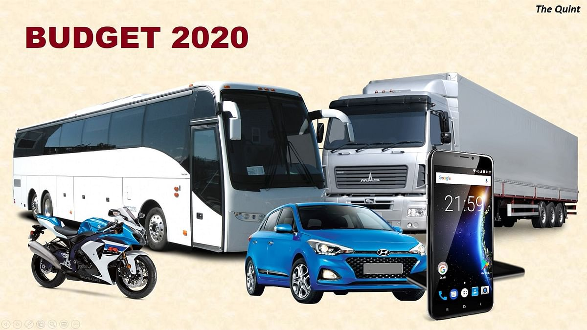 Budget 2020: Many Vehicles &  Phones To Become More Expensive