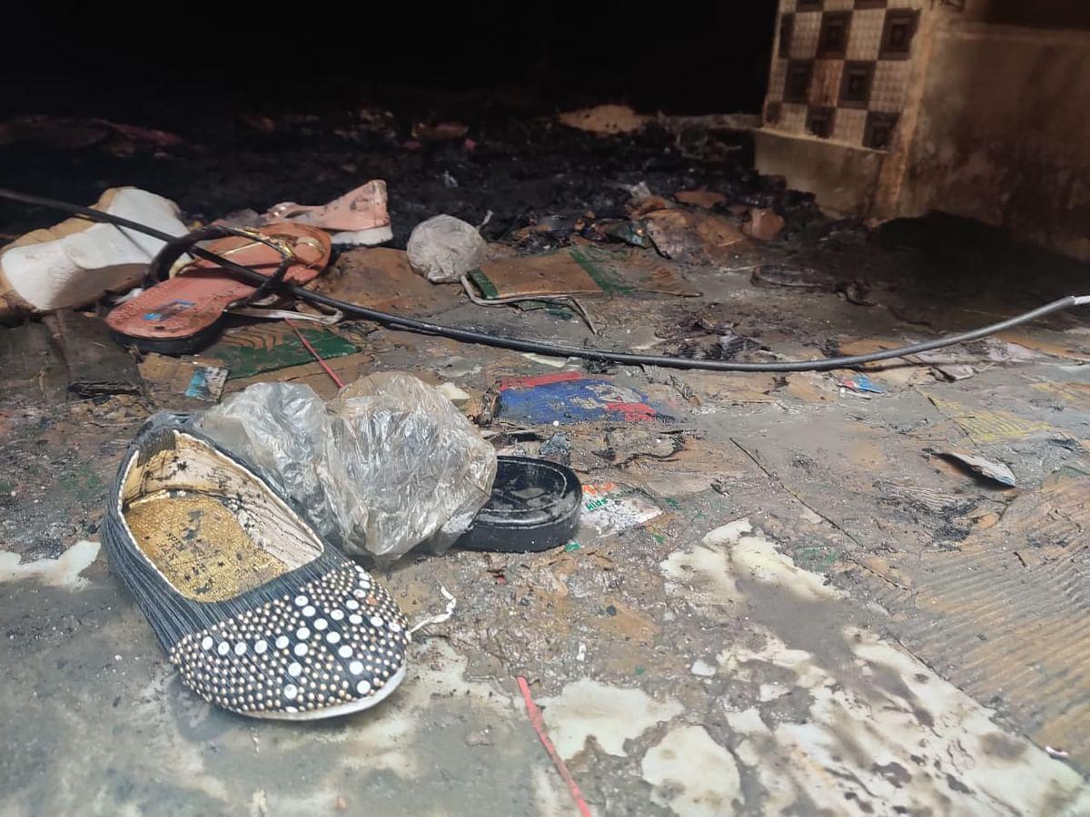 Houses were vandalised on Tuesday in the Ashok Nagar area.