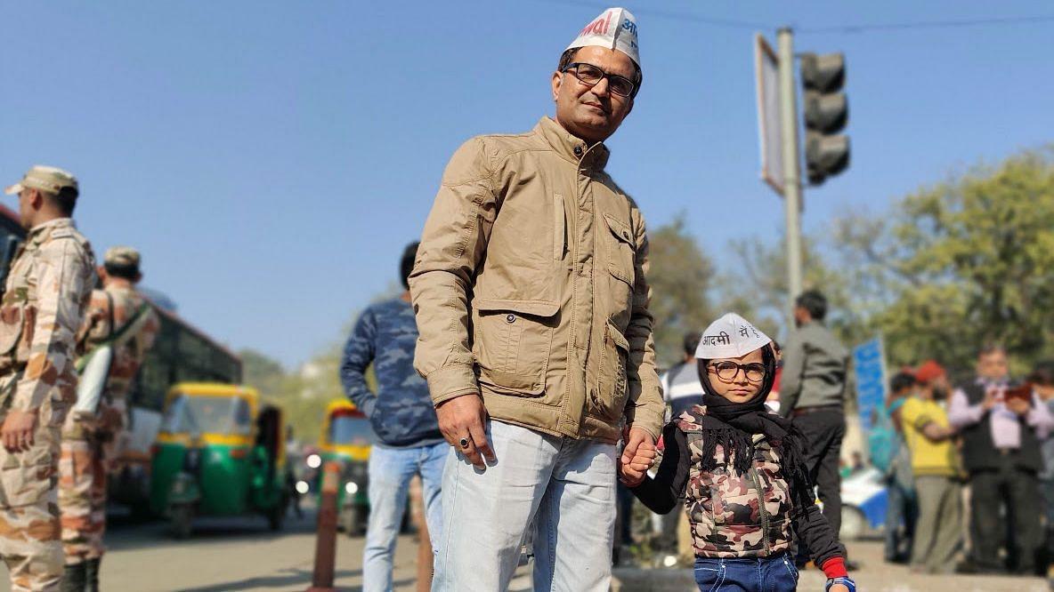Yuvraj with his father at Ramlila Maidan.