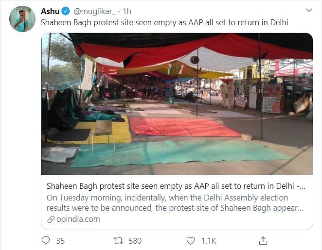 Shaheen Bagh Empty Post AAP Win? Twitter Abuzz With False Report
