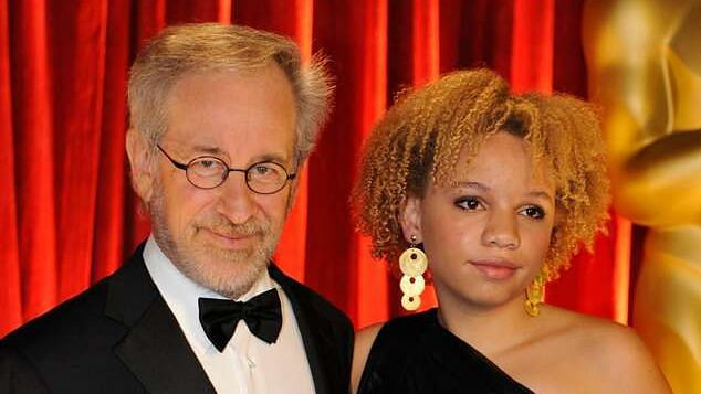 Steven Spielberg with daughter Mikaela Spielberg
