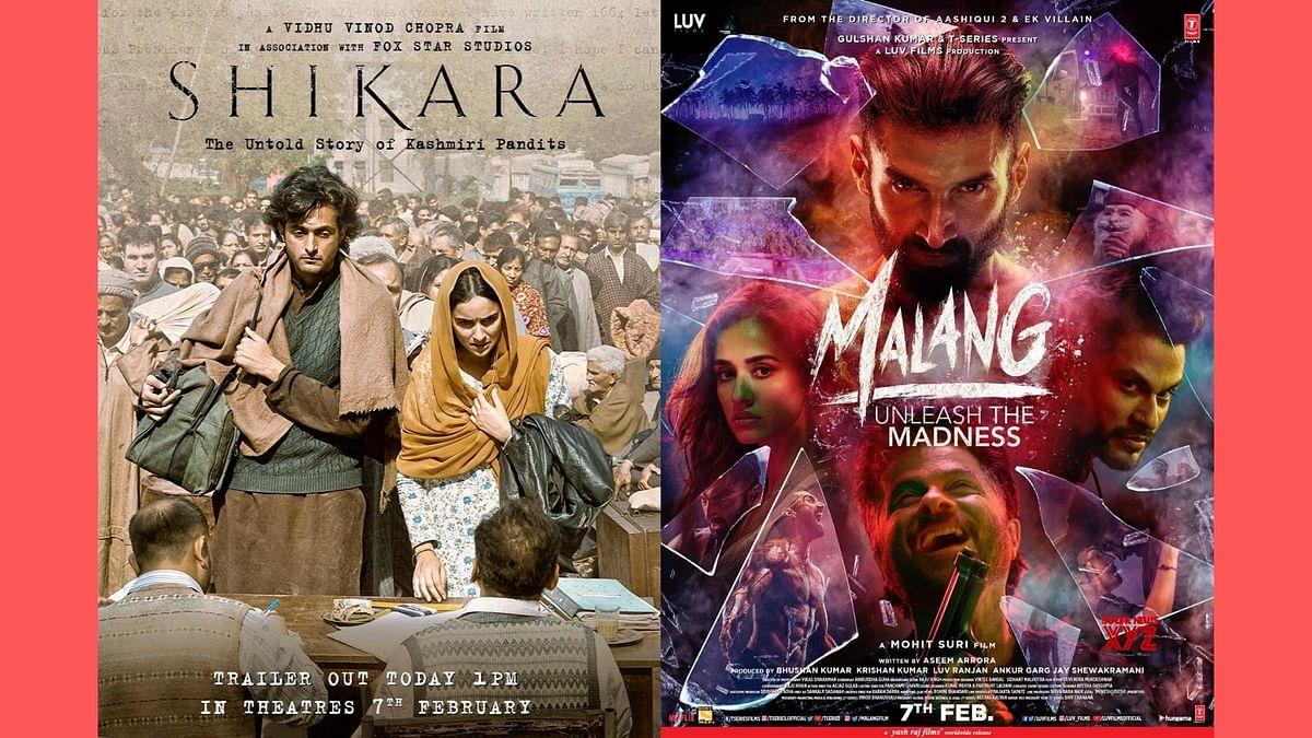 Posters of <i>Shikara </i>and <i>Malang.</i>