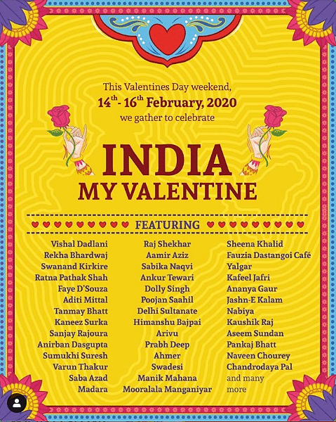 On Valentine's Day Weekend, Artists Unite to Cherish Idea of India
