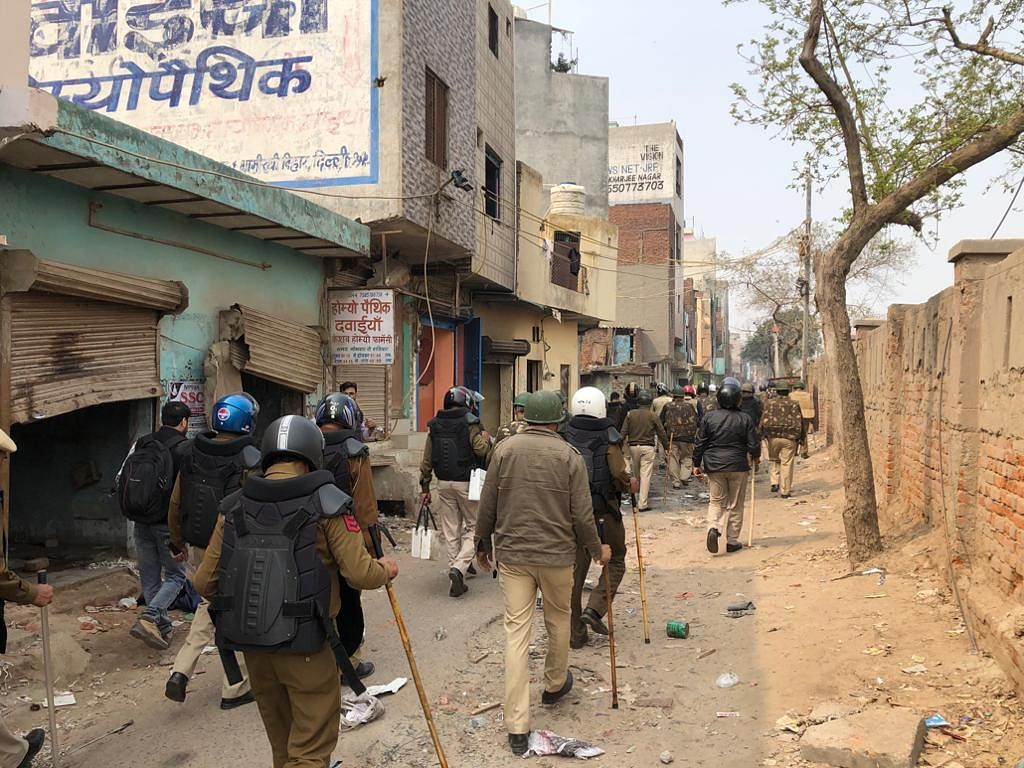 Police presence is on the ground in Bhagirati Vihar. Section 144 is imposed in the locality.