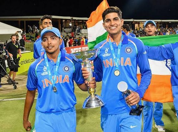 Prithvi Shaw (left) and Shubman Gill have both earned their international debuts with the senior team.