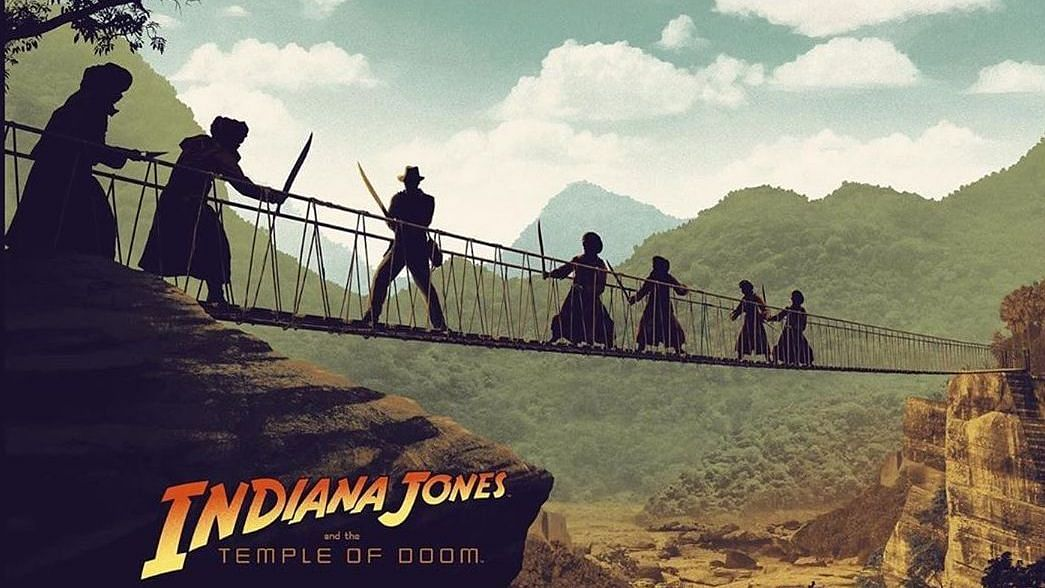 An artist's rendition of <i>Indiana Jones and the Temple of Doom.</i>