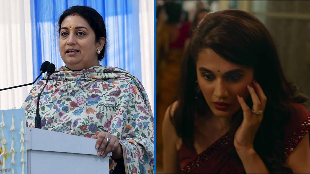 Smriti Irani Praises 'Thappad' Trailer, Says it's a Must-Watch