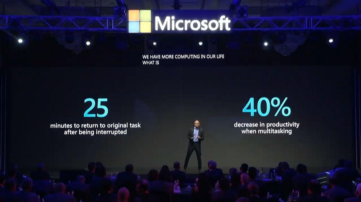 Microsoft CEO Satya Nadella talks about Teams app.