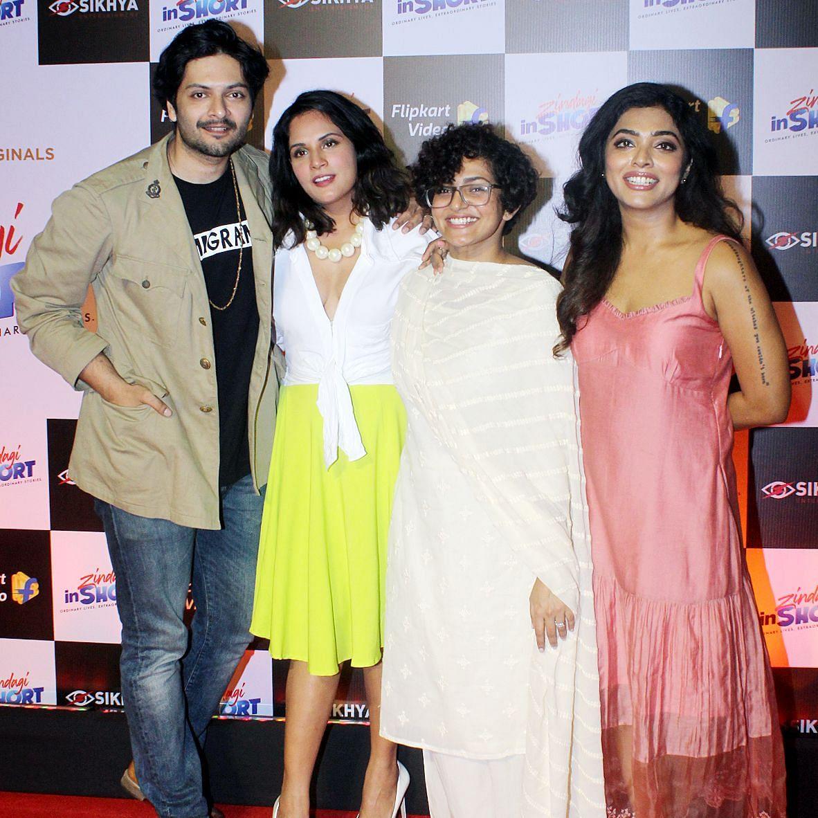 Ali Fazal, Richa Chaddha, Parvathy Thiruvothu and Rima Kallingal at the premiere of <i>Zindagi in Short.</i>