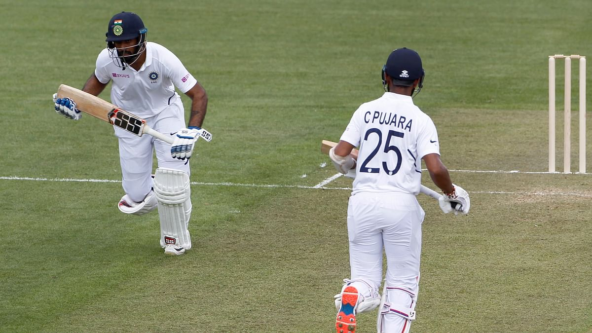 Vihari and Pujara got a 195-run stand between them.