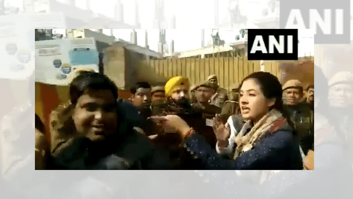 Cong's Alka Lamba Tries to Slap AAP Worker Outside Polling Booth