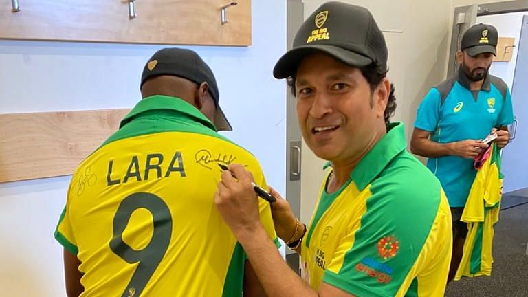 Bushfire Bash: Tendulkar Joins Lara and Ponting in Signing Jerseys