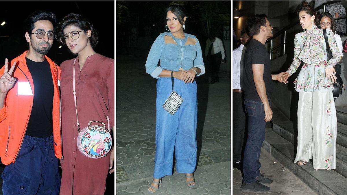 In Pics: Ayushmann, Tahira, Richa Chadha Watch Taapsee's 'Thappad'