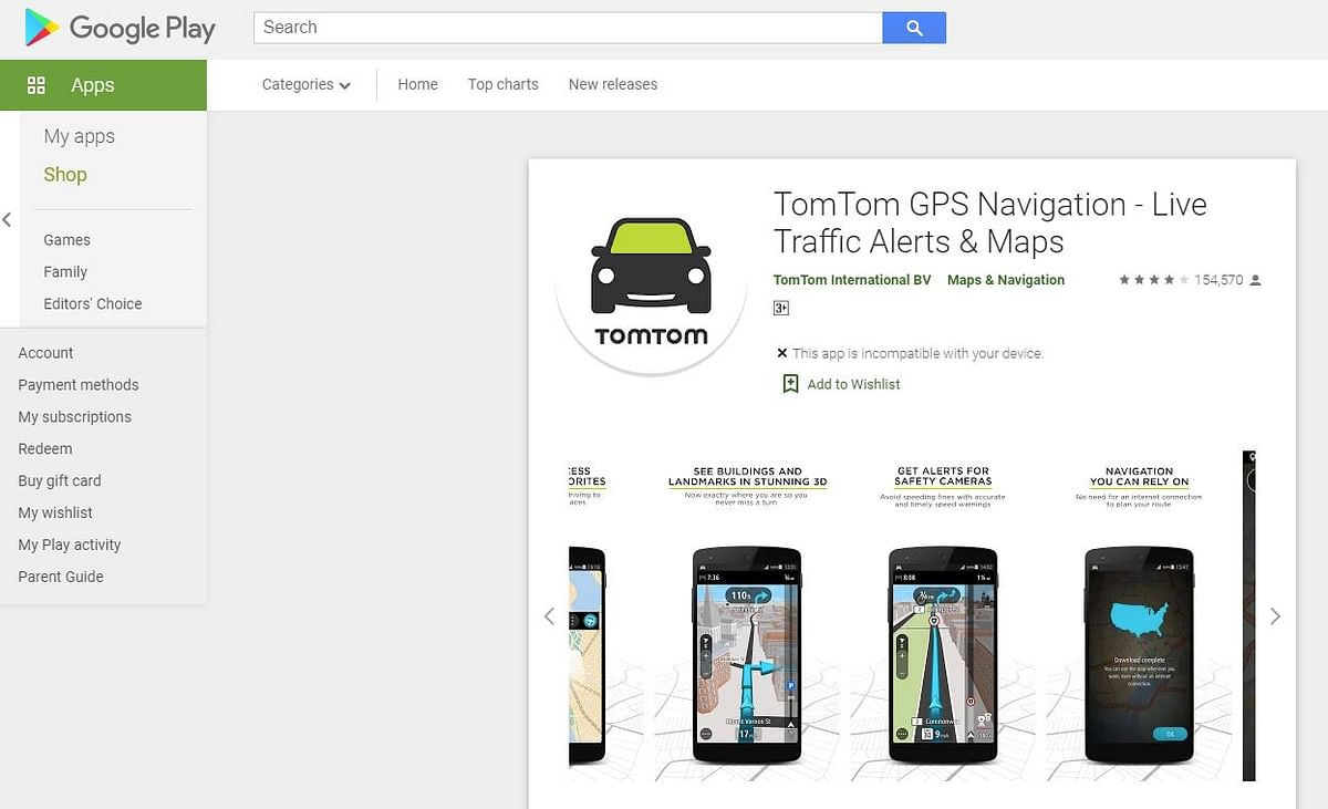This is TomTom's go-to navigation platform which could be used by Huawei.