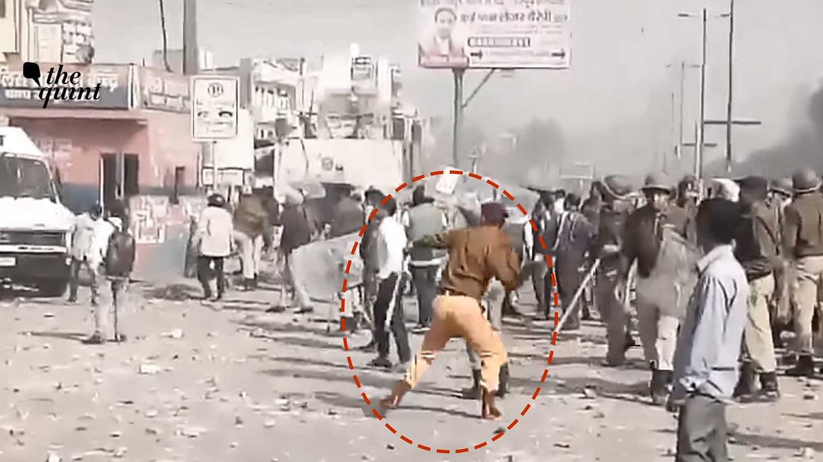 Northeast Delhi clashes, cop allegedly pelts stone, joins mob.